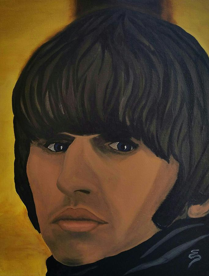 Portrait Paintings Painting - Ringo Star  Beatles For Sale by Edward Pebworth