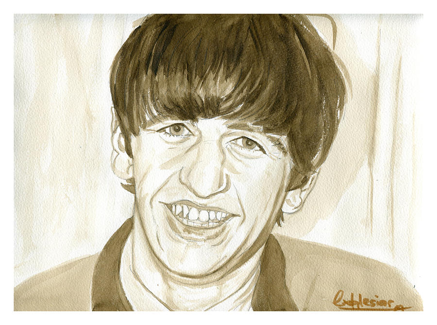 Portrait Painting - Ringo Starr by David Iglesias