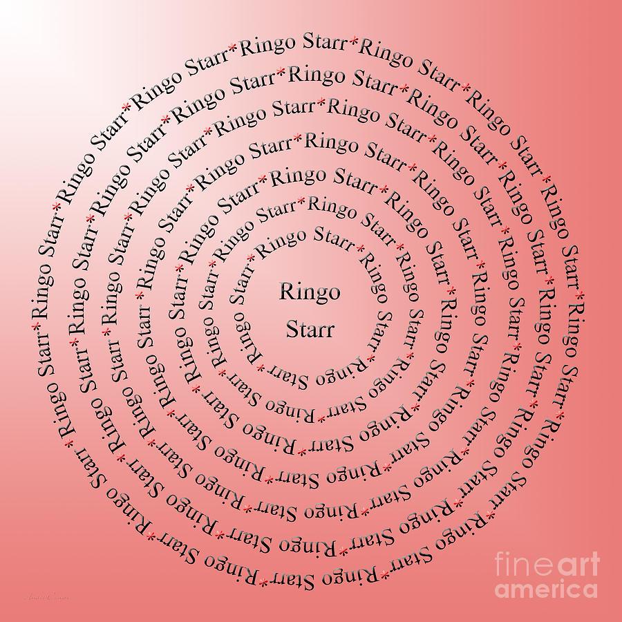 Beatles Digital Art - Ringo Starr Typography by Andee Design