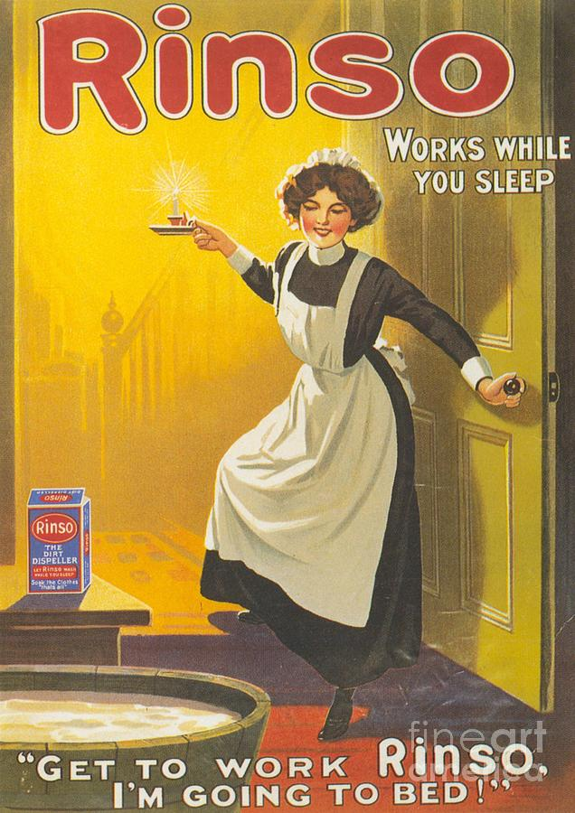 Rinso 1910s Uk Washing Powder Maids Drawing