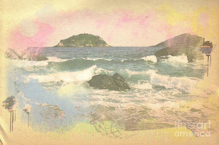 Landscape Digital Art - Rio In Aquarelle by Will Cardoso