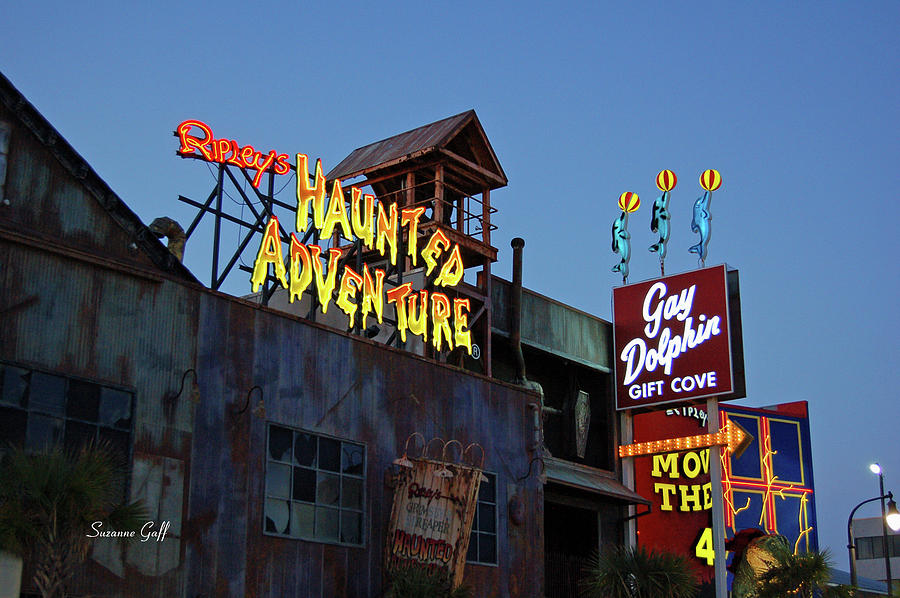 Ripleys Haunted Adventure And The Gay Dolphin-myrtle Beach South Carolina Photograph  - Ripleys Haunted Adventure And The Gay Dolphin-myrtle Beach South Carolina Fine Art Print