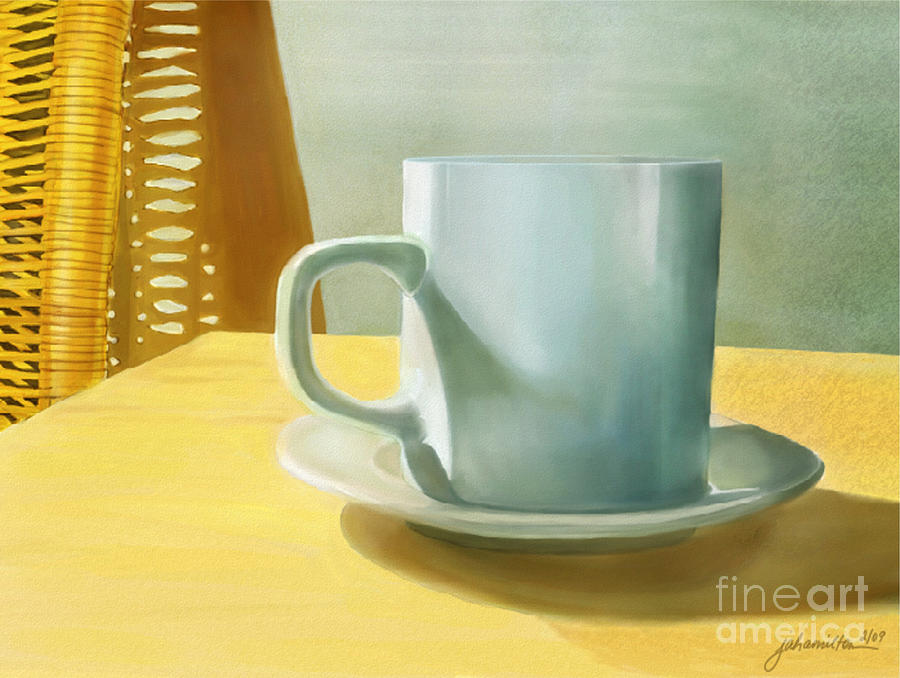Mug Digital Art - Rise And Shine by Joan A Hamilton