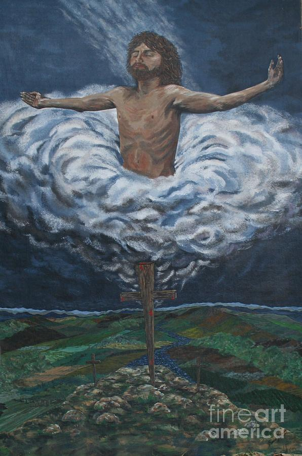 Risen Christ Jesus Painting by Doreen Karales Zonts