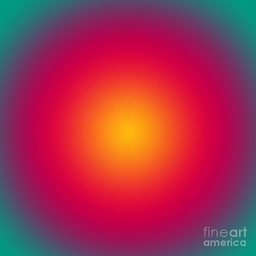 Rising Sun Color Harmony Digital Art