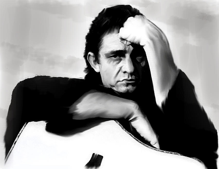 Rite Of Truth  Jonny Cash Painting