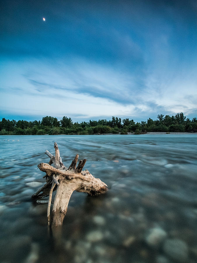 Landscape Photograph - River At Night by Davorin Mance