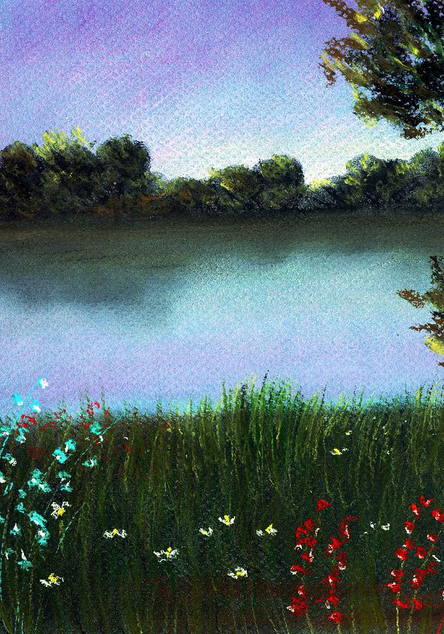 River Bank Painting  - River Bank Fine Art Print