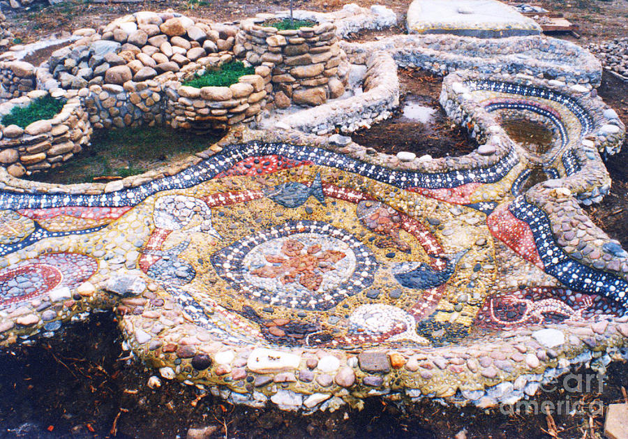 Mosaic Sculpture - River Bank In The Yard by Nikolay Ilchevski