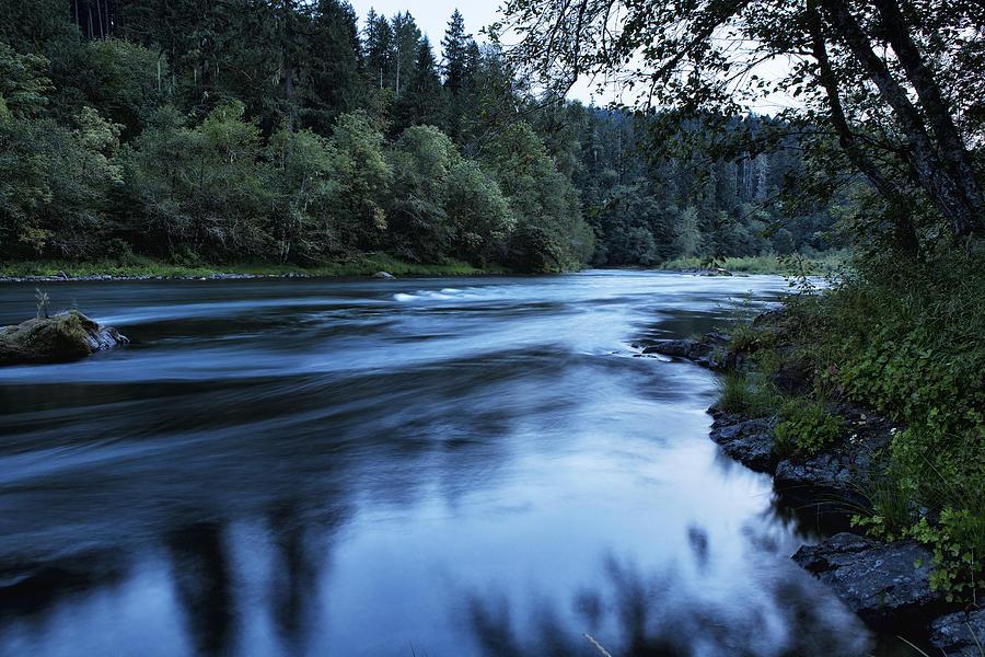 River Blue Photograph