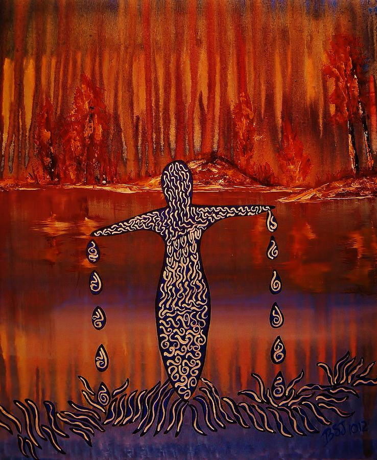 Acrylic Painting - River Dance by Barbara St Jean