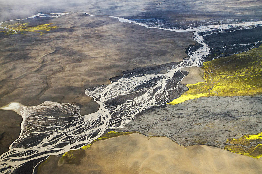 River Delta Iceland Photograph By For Ninety One Days