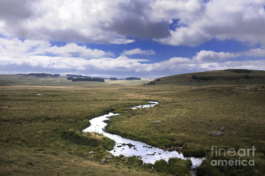 River In A Landscape Photograph  - River In A Landscape Fine Art Print