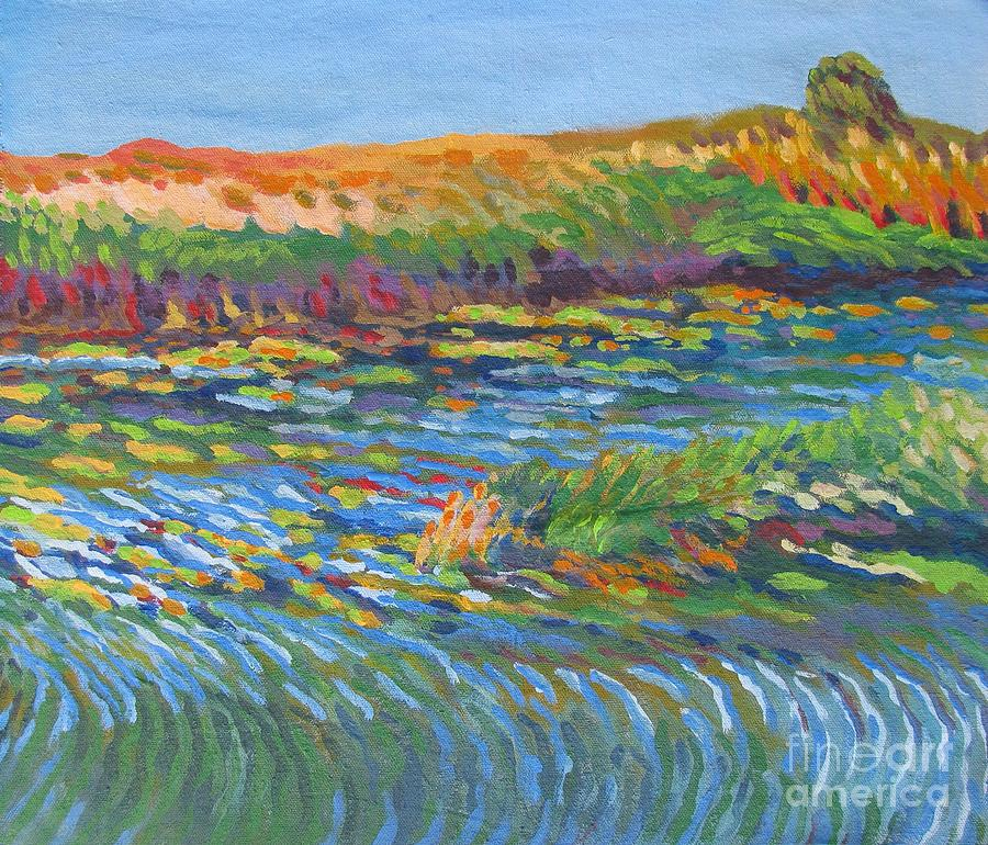 River In Bloom Painting
