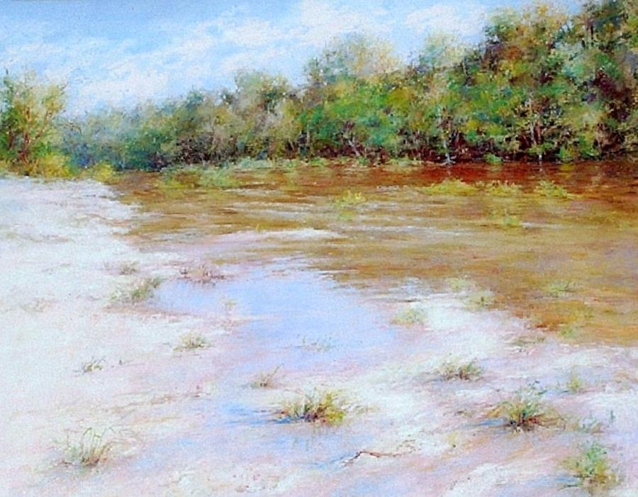 River Nature Landscape Painting