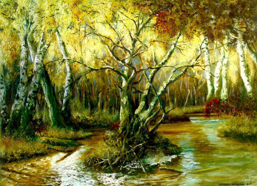 River On The Forest Painting  - River On The Forest Fine Art Print