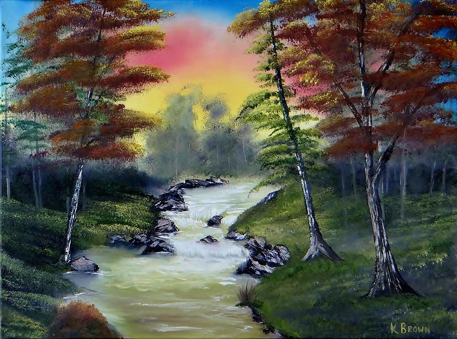 Landscape Paintings Painting - River Run by Kevin  Brown