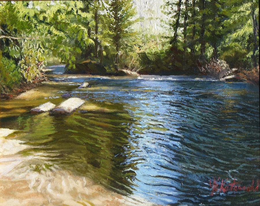 Dupont State Forest Painting - River Sunrise by Joseph Kotowski