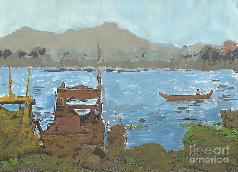 River View Painting  - River View Fine Art Print