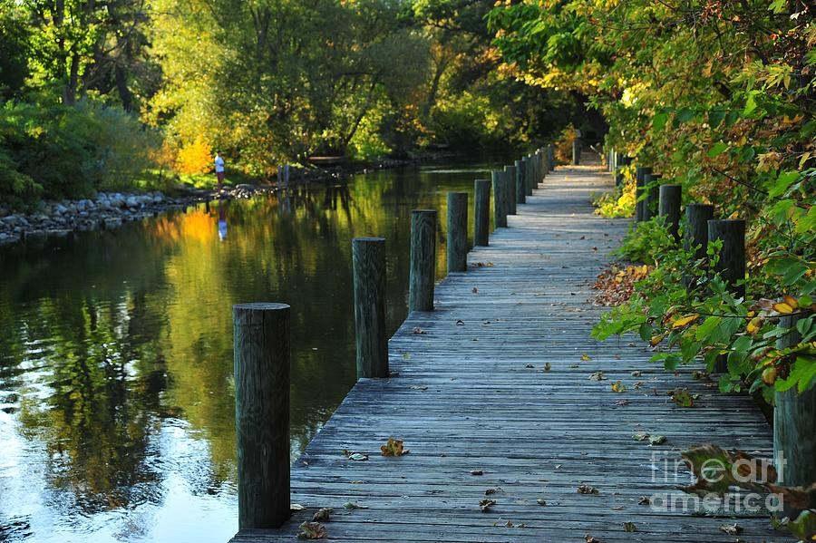 River Walk In Traverse City Michigan Photograph  - River Walk In Traverse City Michigan Fine Art Print
