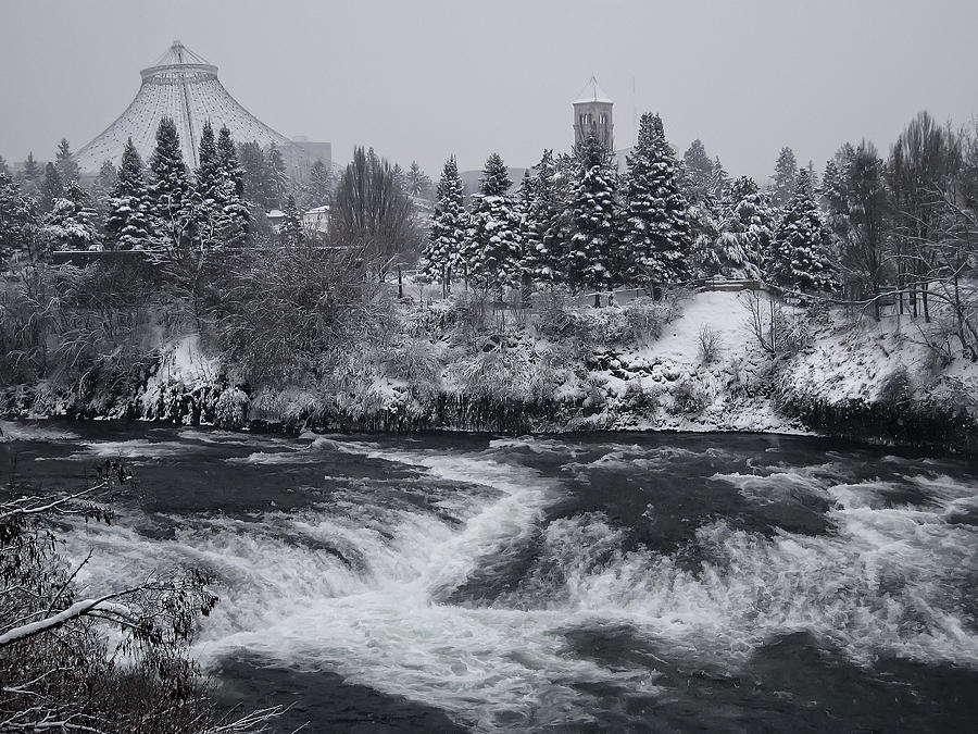 Riverfront Park Winter Storm - Spokane Washington Photograph  - Riverfront Park Winter Storm - Spokane Washington Fine Art Print