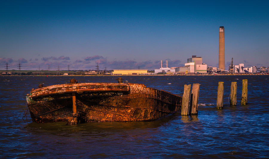 Chatham Photograph - Riverside Wreck by Dawn OConnor