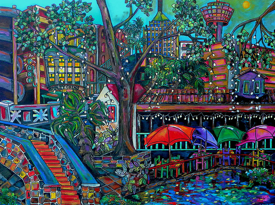 Riverwalk Painting  - Riverwalk Fine Art Print