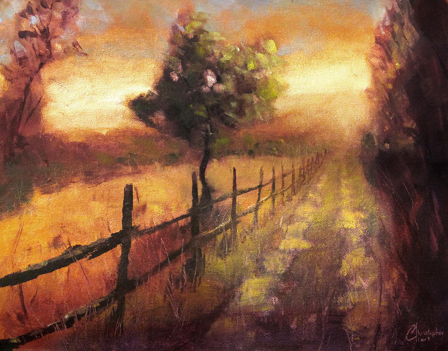 Road At Sunset Florence Italy Painting