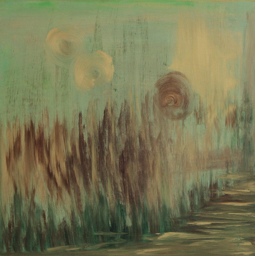 Abstract Painting - Road by Joanna Aktas