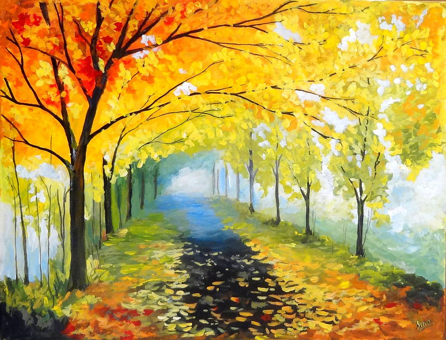 Road Not Taken Painting by Simi Sherin