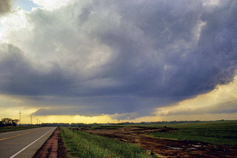 Road To The Tornado - Woonsocket South Dakota Photograph