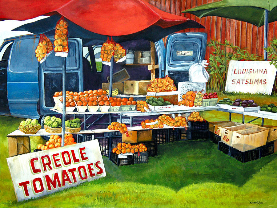 Roadside Market Painting