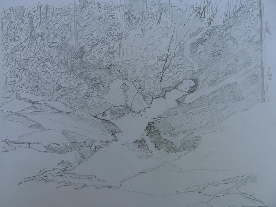 Roaring Fork Falls - Sketch Drawing