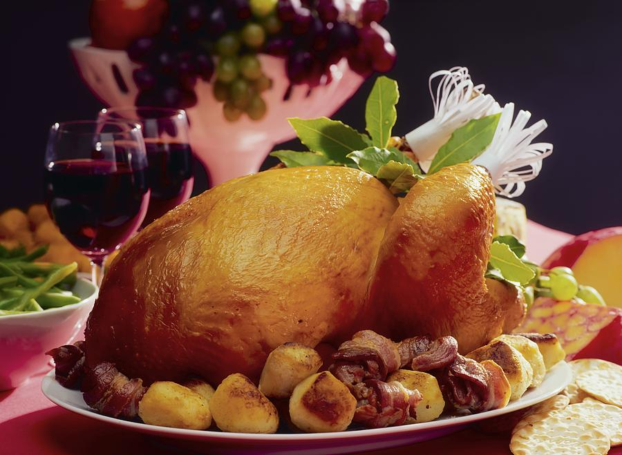 Roast Turkey With Potatoes Photograph