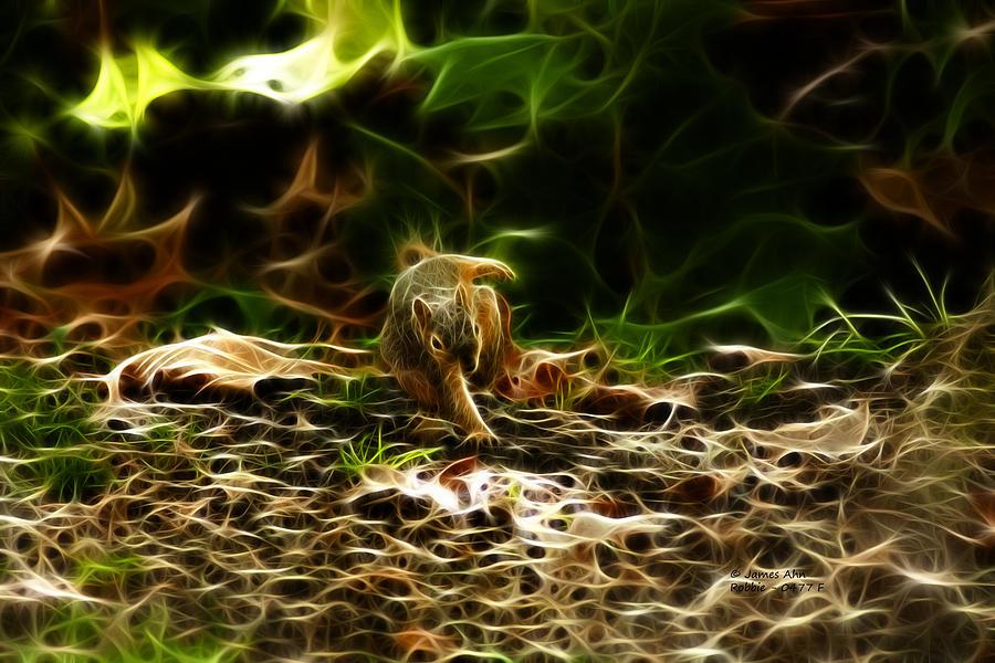 Robbie The Squirrel 0477 - F Digital Art