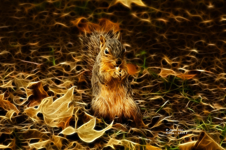 Robbie The Squirrel -1554 F Digital Art
