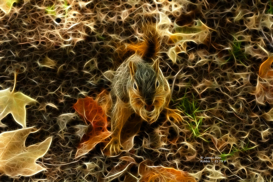 Robbie The Squirrel - 5173 F Digital Art