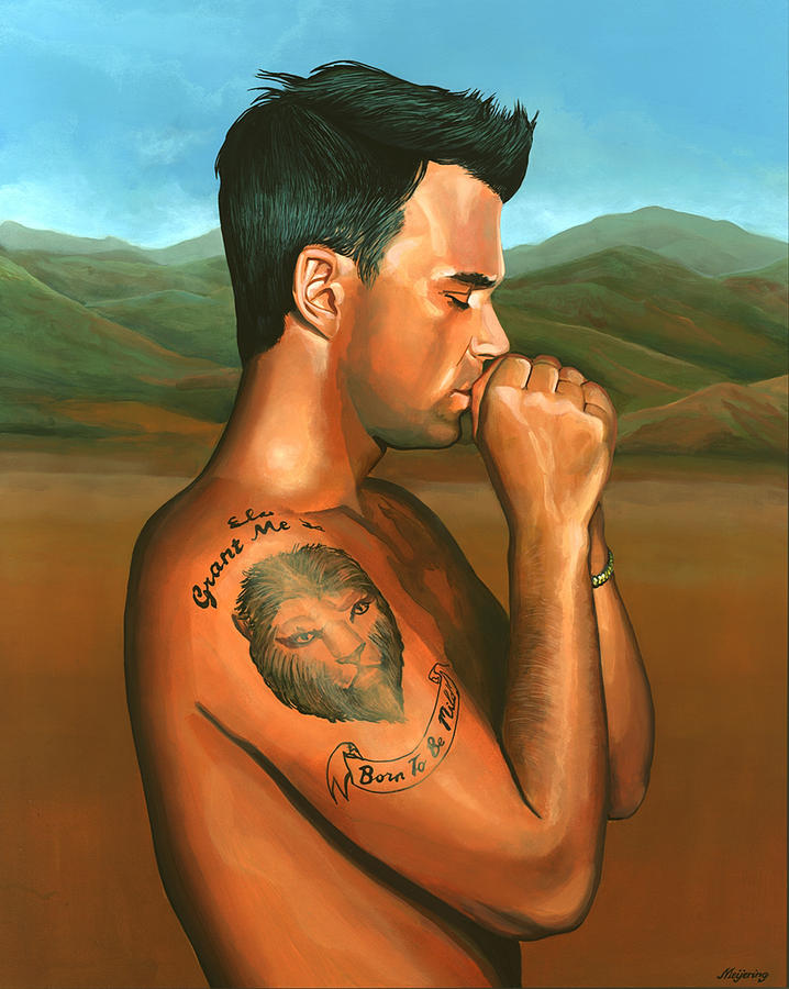 Robbie Williams 2 Painting  - Robbie Williams 2 Fine Art Print