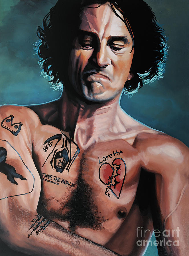 Robert De Niro In Cape Fear Painting