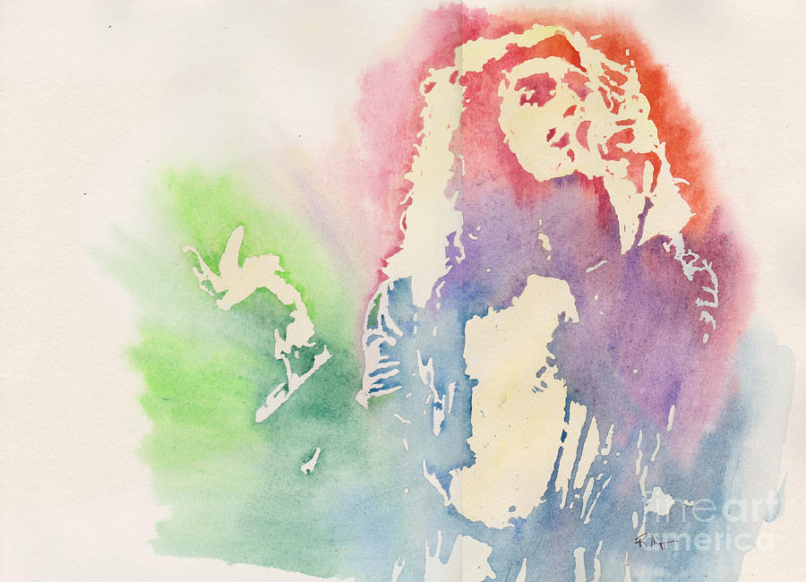 Robert Plant Painting - Robert Plant by Robert Nipper
