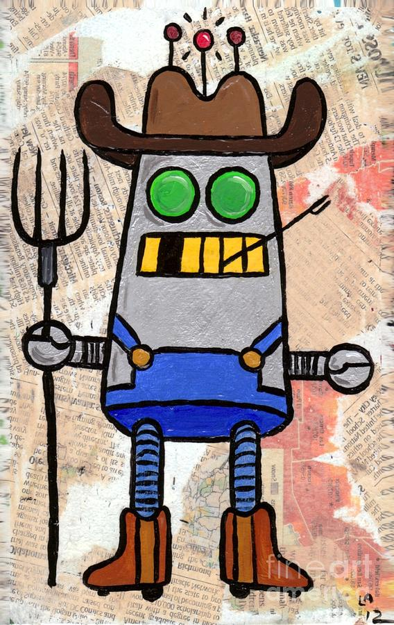 Robot Farmer Painting