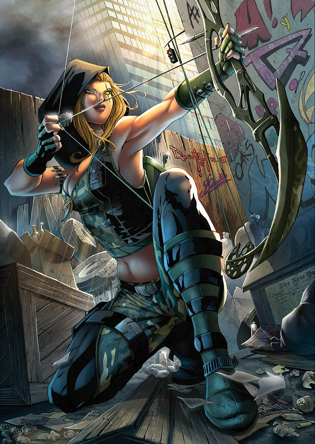 Grimm Fairy Tales Drawing - Robyn Hood 05a by Zenescope Entertainment