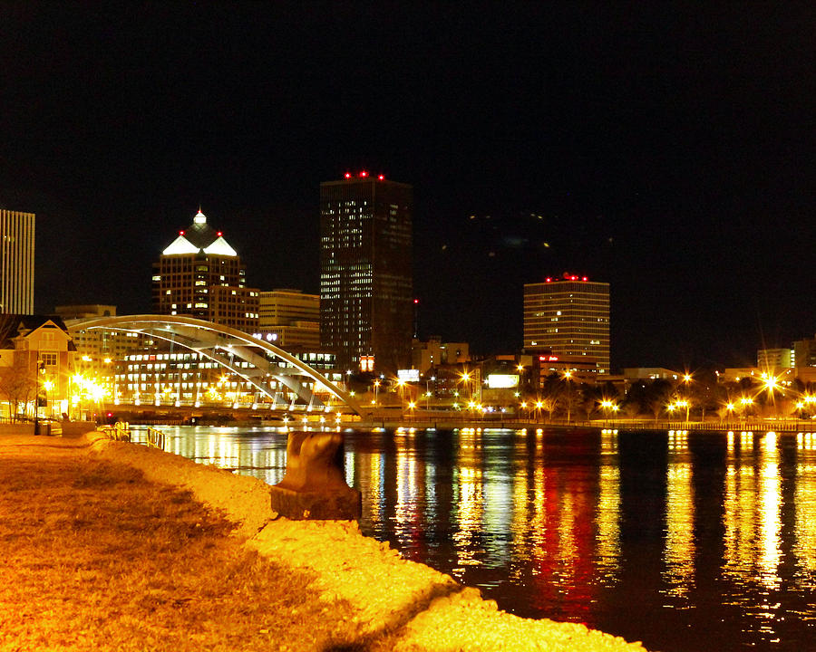 Rochester At Night Photograph  - Rochester At Night Fine Art Print