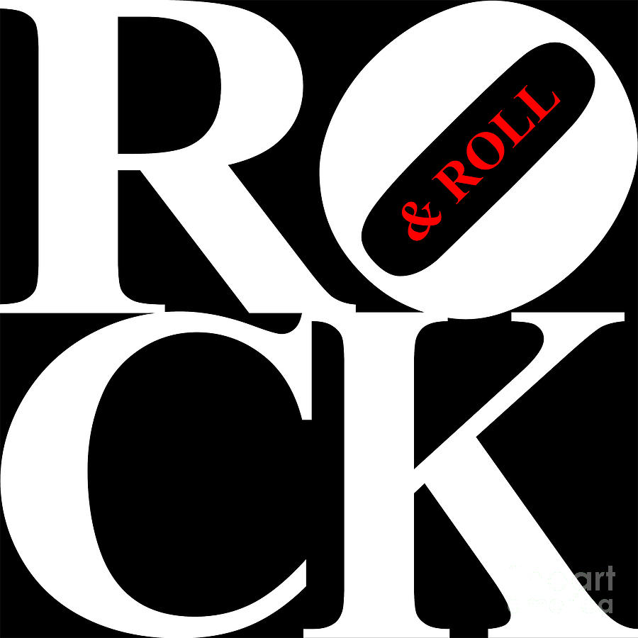 Rock And Roll 20130708 White Black Red Digital Art