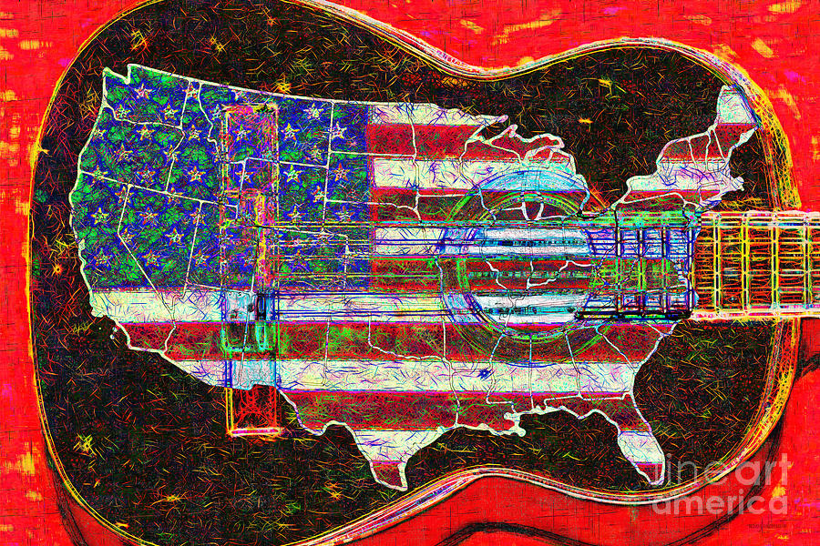 Rock And Roll America 20130123 Red Photograph  - Rock And Roll America 20130123 Red Fine Art Print