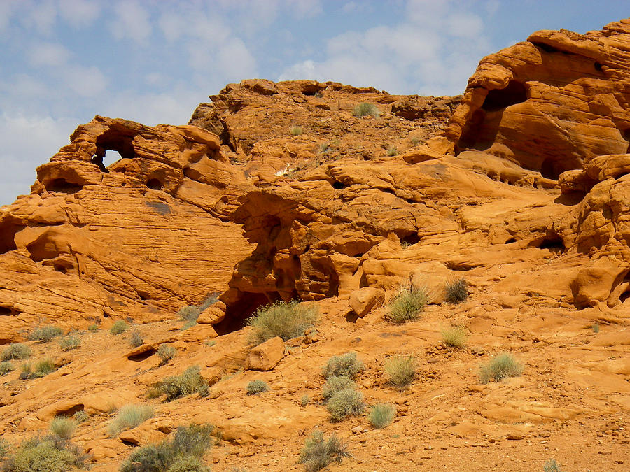 Rock Arch Or Window In Sandstone Valley Of Fire State Park Overton Nevada Photograph