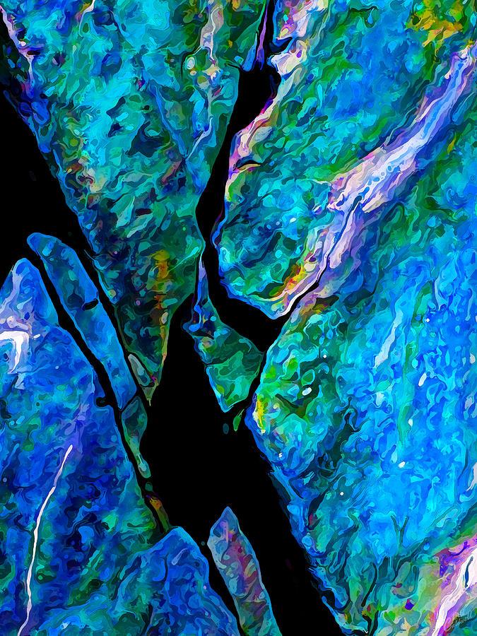 Rock Art 17 In Aqua Photograph