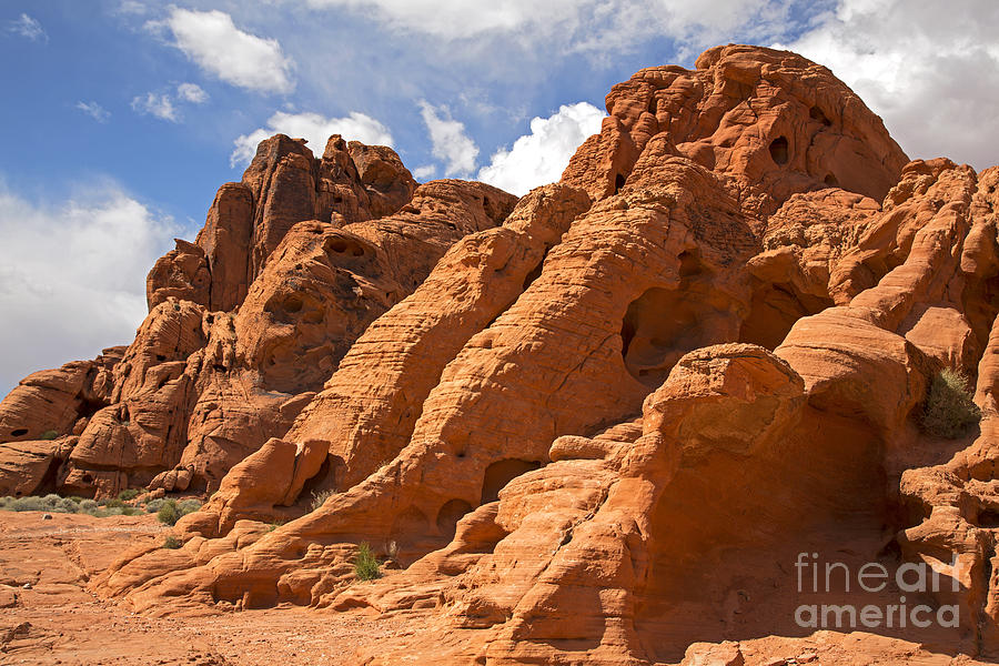 Rock Formations In The Valley Of Fire Photograph