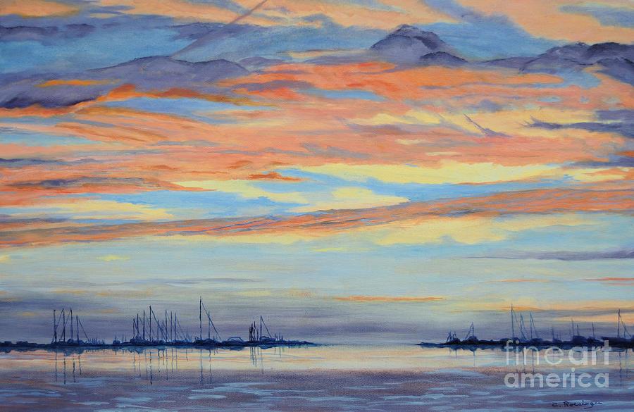 Rock Hall Sunset Painting