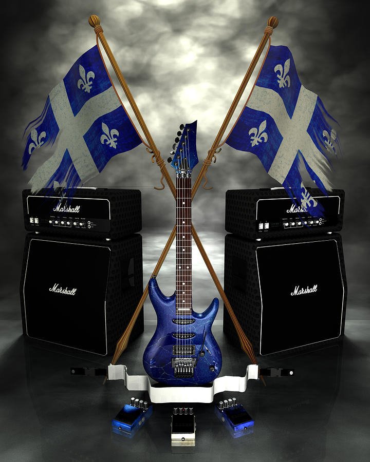 Rock N Roll Crest - Quebec Digital Art
